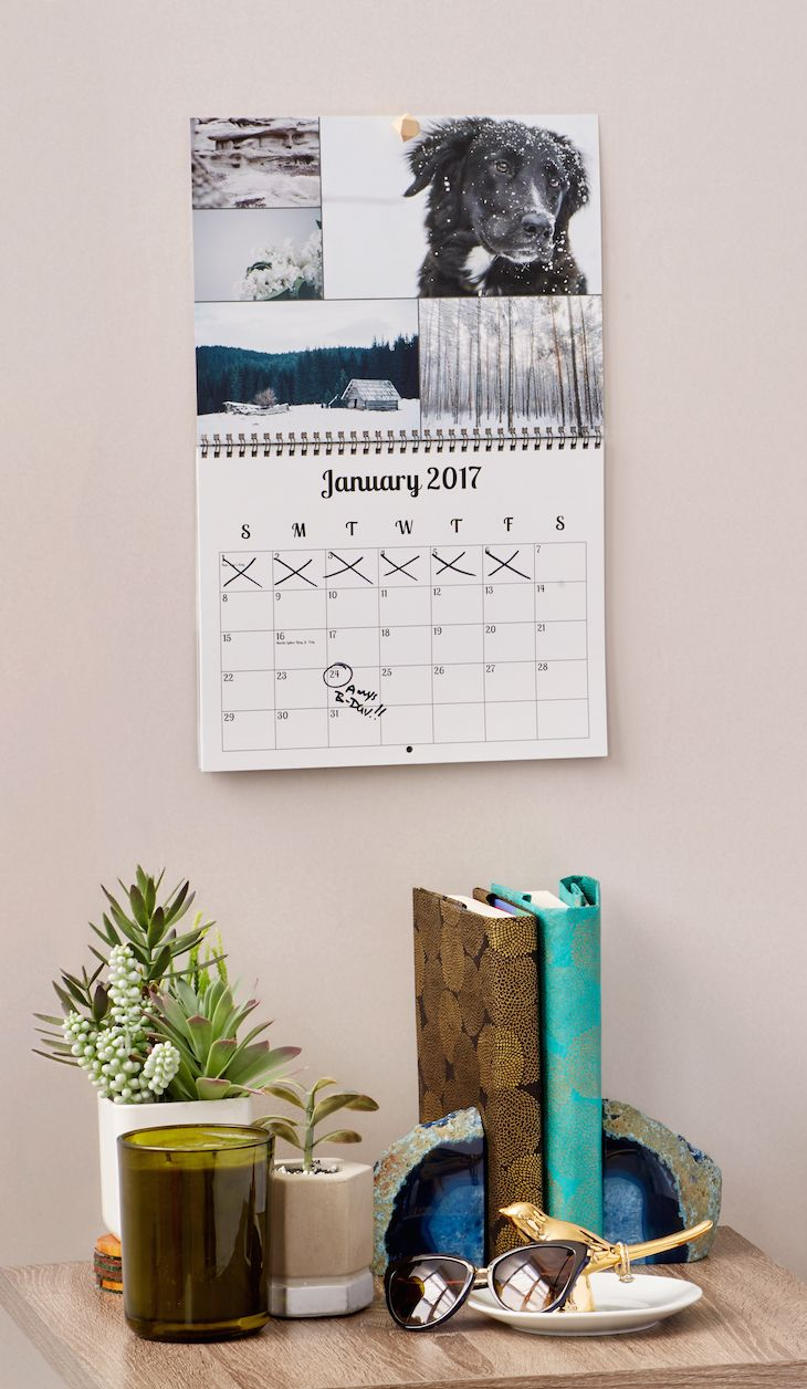 You'll be proud to hang this custom calendar on your wall. Add your family's birthdays (don't forget the pets!), not-to-be-forgotten anniversaries, and any other red-letter day in your life. This is one personalized calendar that will look good long after 365 days have gone by. Save up to 40%.