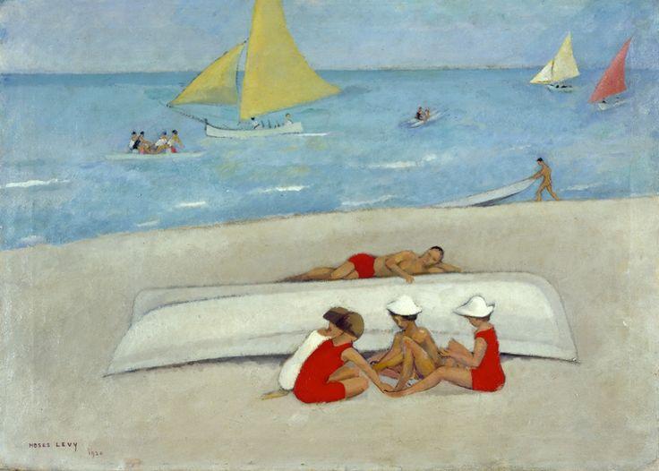 ^ Moses Levy, Spiaggia con bagnanti, 1920 - olio su tela, cm 50x70 - collezione privata.