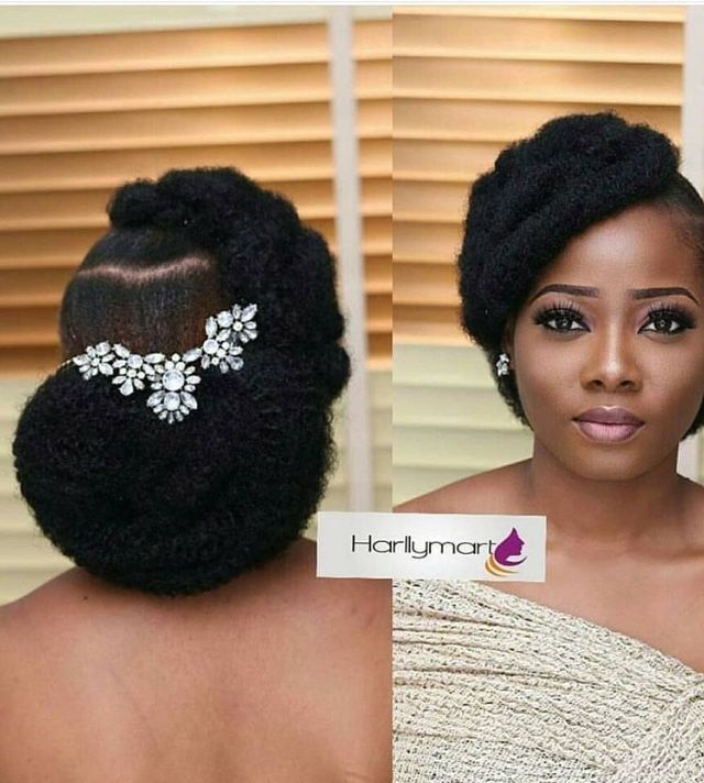 Pin By Lady Christlove On Wedding Hairstyle Natural Bridal Hair