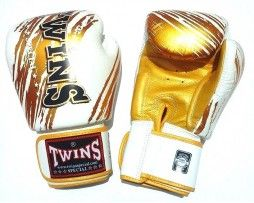 TWINS BOXING GLOVES WHITE GOLD TW 2