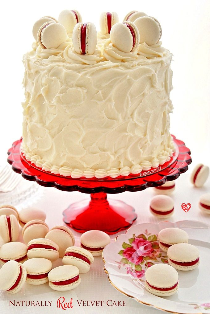 SugaryWinzy Naturally Red Velvet Cake with Cream Cheese Frosting