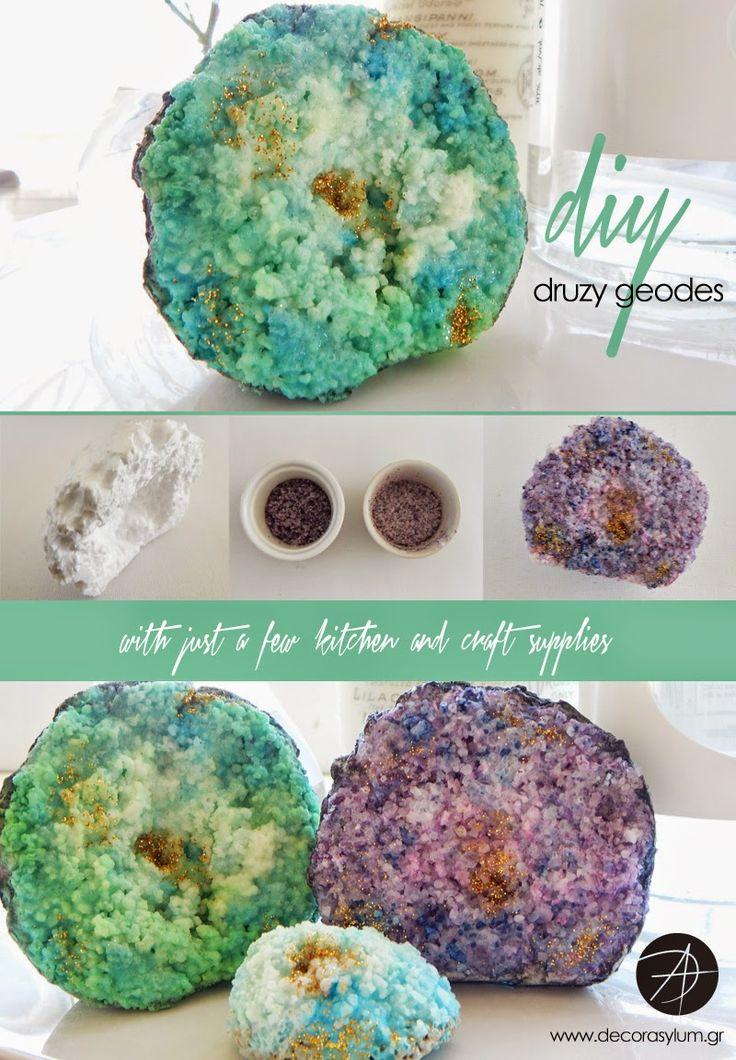 DIY druzy agate geodes