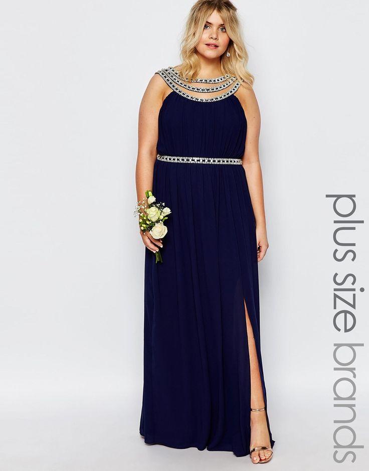 Image 1 ofTFNC Plus WEDDING Embellished Maxi Dress