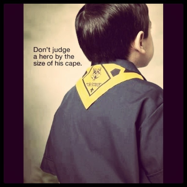 Boy Scout Essay With Quotes: Don't Judge A Hero By The Size Of His Cape