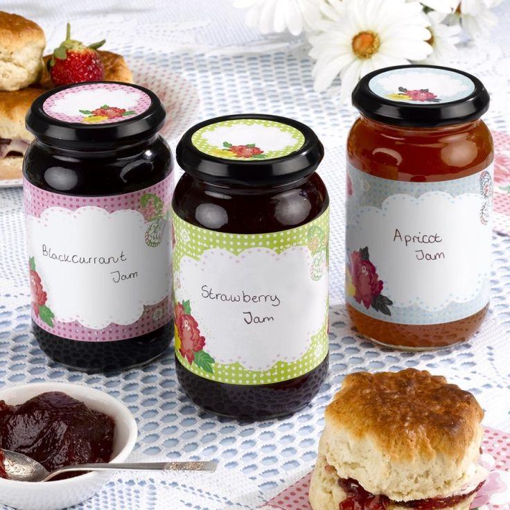 Jampot labels - gaaf bedankje voor de gasten op jouw bruiloft  //