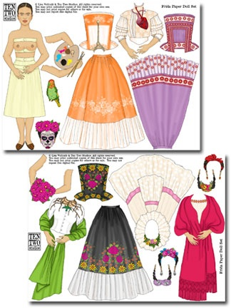 Ten Two Studios » Frida Paper Doll Set