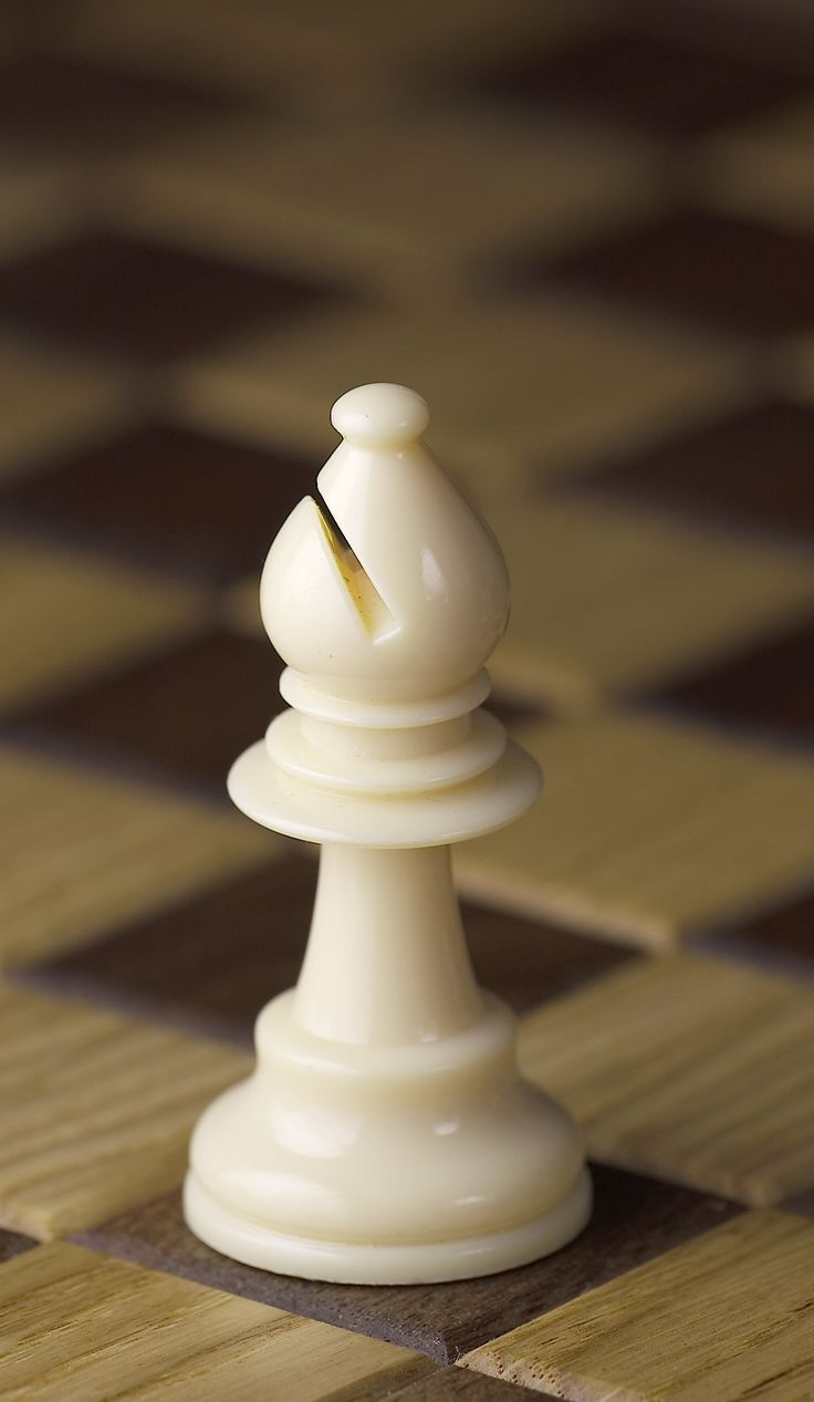 The bishop can move diagonally in any direction for any amount of distance (unless there is a piece in the way). If a piece is in the bishop's range, you can move your bishop to that spot and take the other piece off of the board. This rule applies for all chess pieces.