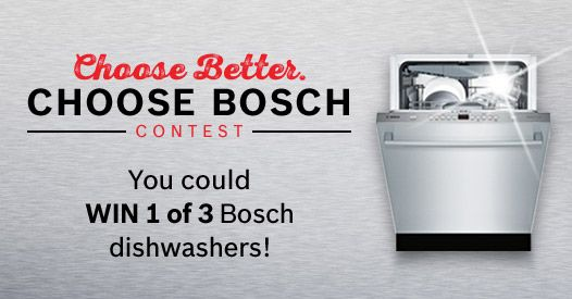 I just entered the Choose Better Choose Bosch Contest!