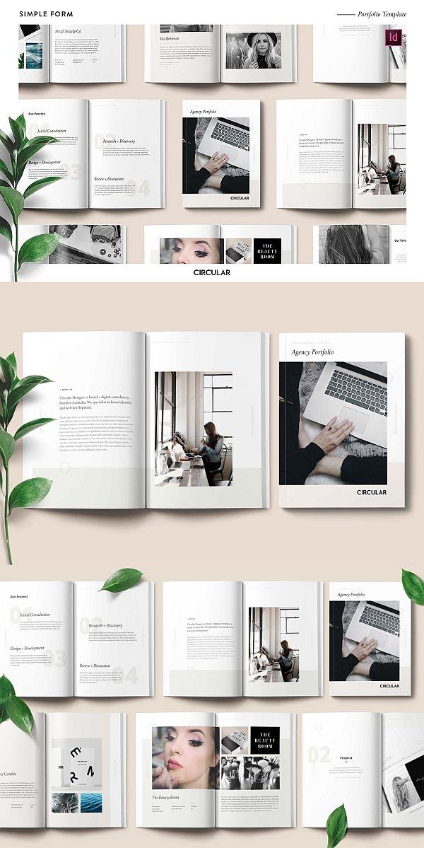 FORM Portfolio Template Lookbook Brochure Indesign Fashion Photography