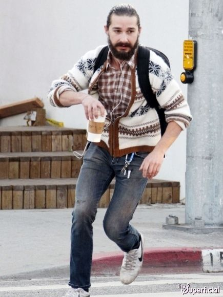"""Shia Labeouf sports """"Hipster Jesus"""" look. What's the big deal?"""