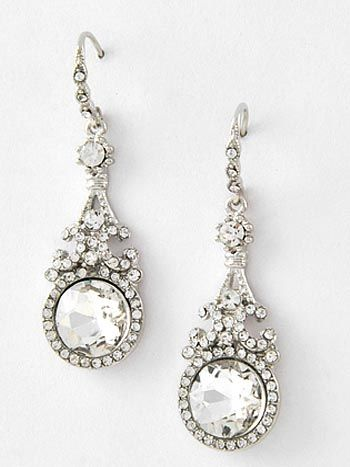Old Hollywood Glamour Rhinestone Earrings