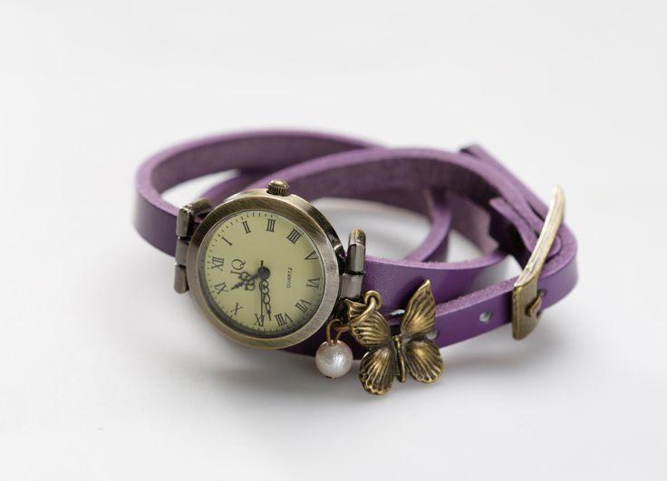 """Genuine Leather - Wristwatch, watch,""""Tender Butterfly"""" von ZWDesign auf Etsy"""