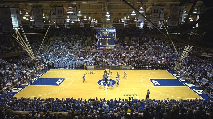 Located in Durham, North Carolina, and serving as the home of the Duke Blue Devils, Cameron Indoor Stadium is truly unique among college basketball arenas. Description from blog.ecollegefinder.org. I searched for this on bing.com/images
