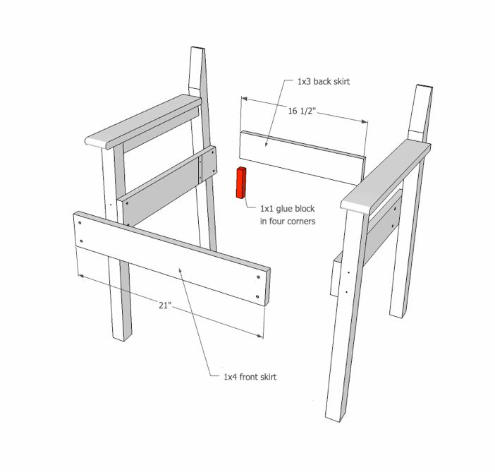 side chair assembly drawing