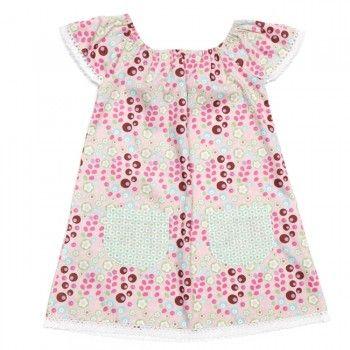 Smock Pink Forest Dress - Oobi.com.au