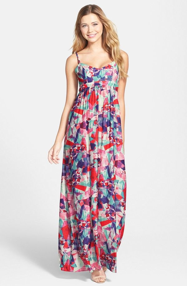 Geo Print Empire Waist Maxi Dress (Regular & Petite) – is it summer yet? / #nordstrom @nordstrom