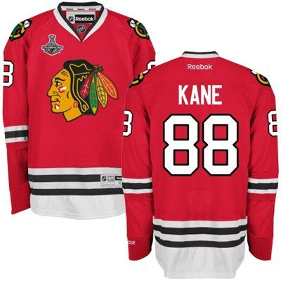 Men's Chicago Blackhawks Patrick Kane Reebok Red 2015 Stanley Cup Champions  Premier Home Jersey