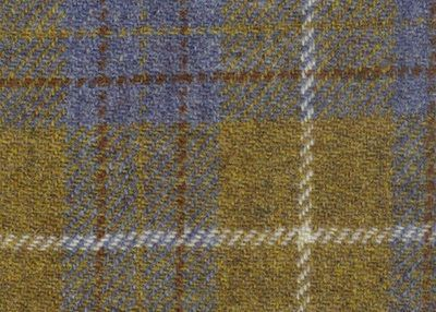Harris Tweed Mustard/Blue A0102