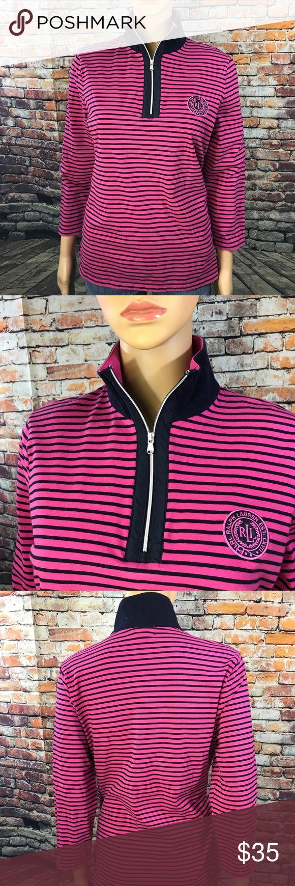 Striped Ralph Lauren Active Top  Striped Ralph Lauren Active Top 95% Cotton 5% Elastane Ralph Lauren Tops Sweatshirts & Hoodies