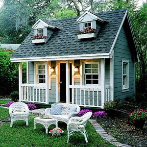 Perfect backyard playhouses you can build!! Now, how to convince my husband to whip one up for our two beauties?