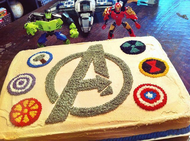 Avengers Birthday Cake by booturtle, via Flickr