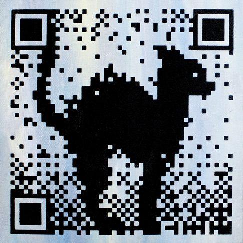 Steven Makse - Friend or Faux – Feline  Hand-made screenprinted acrylic on canvas 20 x 20cm  $85-
