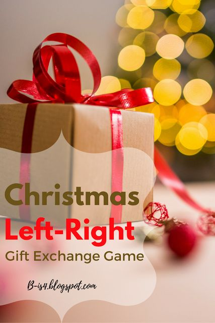 Christmas Left Right Gift Exchange Game Christmas Ideas