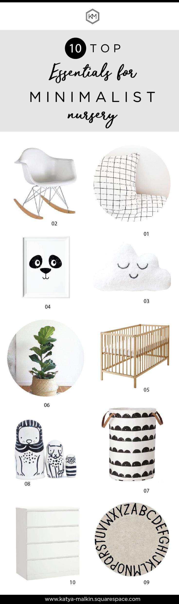 Minimalist nursery decor, nursery decor ideas, nursery decor boy, nursery decor girl, nursery decor monochrome, nursery decor black and white, baby shower gift ideas, baby shower black and white, nursery pillow, nursery wall art, nursery crib #minimalistnurserymusthaves #minimalistnursery #monochromenursery #kidsroomdecorblog