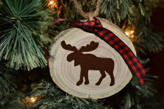 Hey, I found this really awesome Etsy listing at https://www.etsy.com/listing/460124560/rustic-tin-moose-wood-slice-ornament