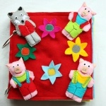 Felt Quiet Book for Kids - The Three Little Pigs Theme