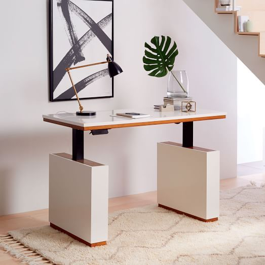 Modern Sit + Stand Adjustable Desk