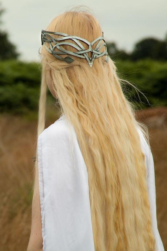 elvish hair and crown
