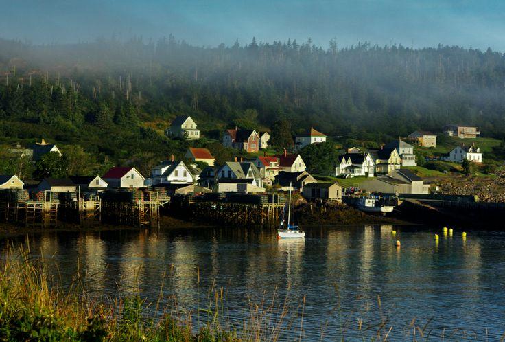 Morning Fog breaking .. Tiverton NS