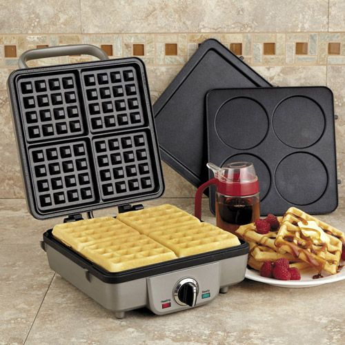 The Cuisinart WAF-300 Breakfast Central Waffle & Pancake Maker offers an easy way to make two breakfast favorites. Interchangeable nonstick ...