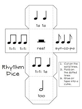 ROLL-A-SONG MUSICAL DICE COMPOSITION:BUNDLED SET - TeachersPayTeachers.com