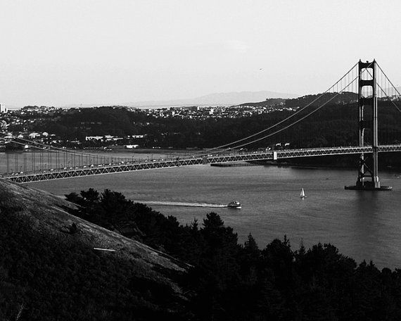 8x10 Black and White Print Scenic View Of The by PelliculArt