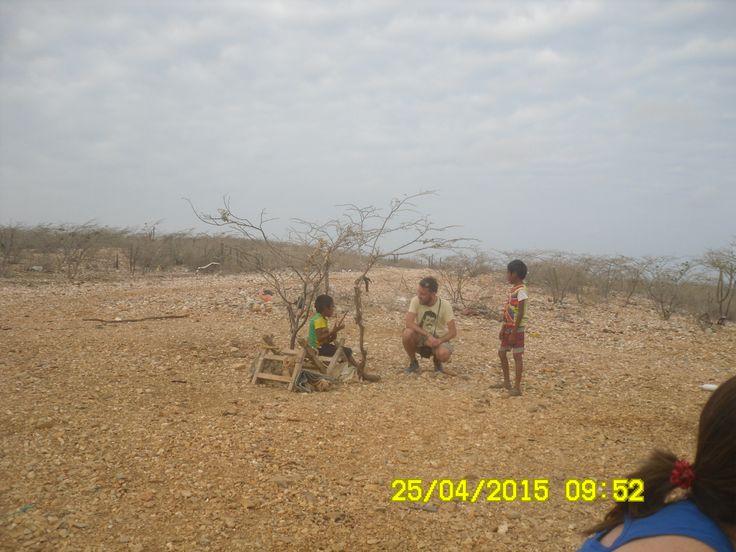 Rumbo a la alta Guajira con los hijos de nuestro conductor bienvenido