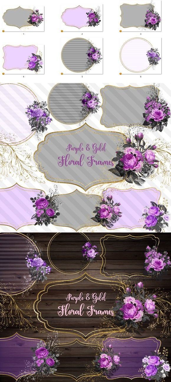 Purple And Gold Floral Frames Best Objects Objects Purple Frame