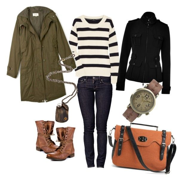 Essential: sweater, slacks, close-fitting jacket, overcoat