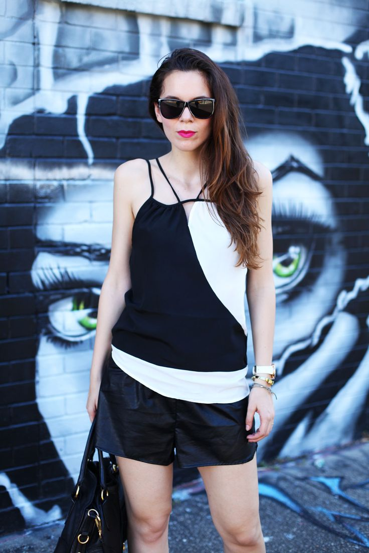 #fashion #fashionista @Irene Colzi casual look bianco nero