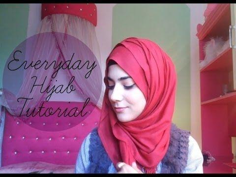 ♡ Everyday Hijab tutorial ♡ - YouTube