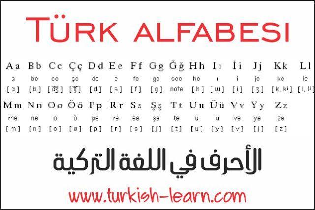 تعلم اللغة التركية الابجدية التركية Turkish Language Learn Turkish Language Learn Turkish