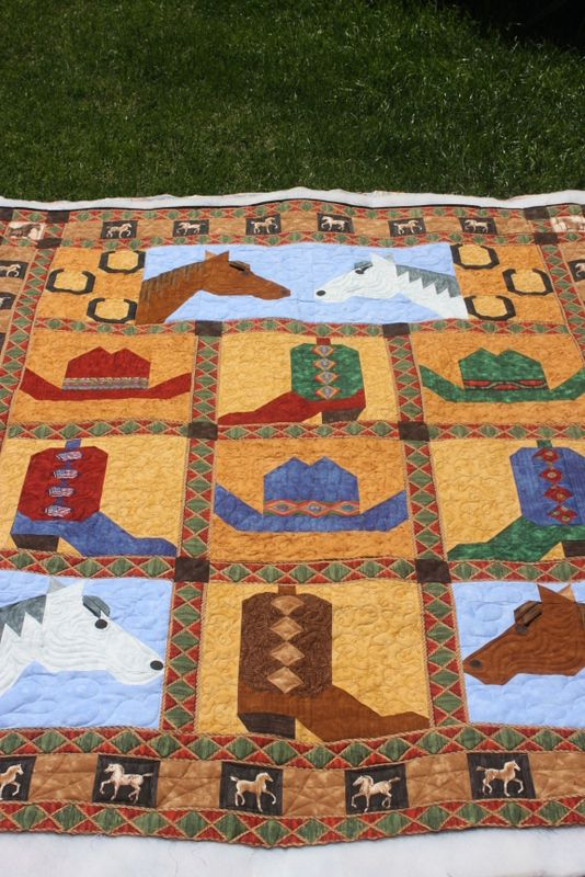 Saddle up your Horses quilt posted by charismah from the quiltingboard.com