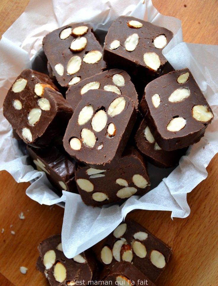 fudge chocolat amandes facile