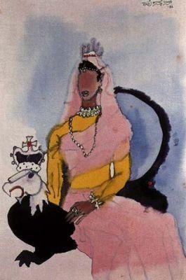 M.F. Hussain - ranee    antifeminist undertones...hmmm