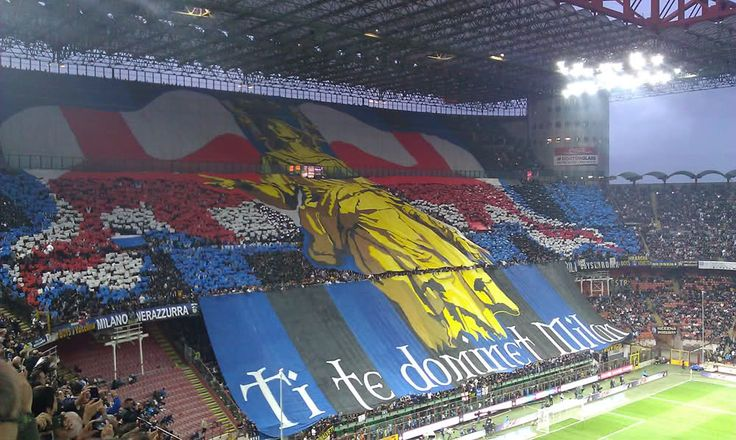 stupendous pyrotechnical shows and passion. Curva Nord of Inter Milan
