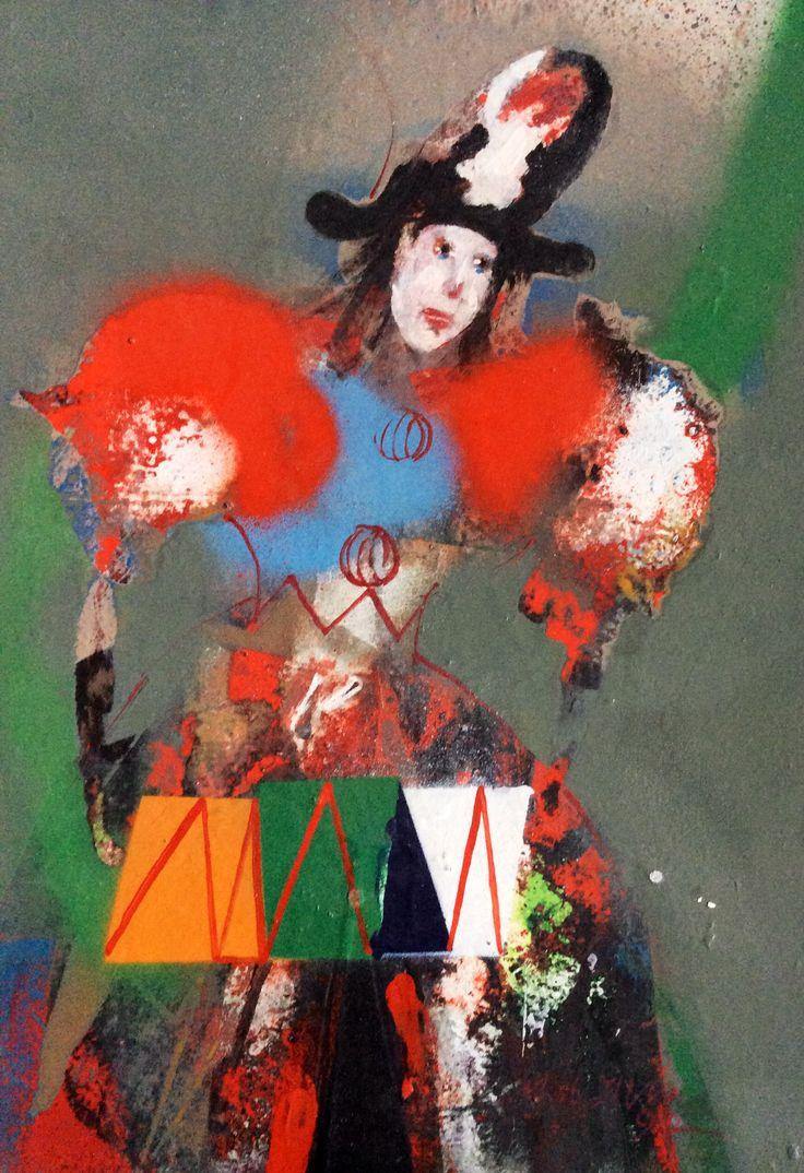 oil paint / clown