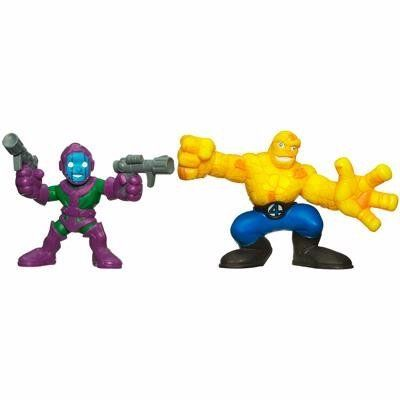 "Marvel Superhero Squad Series 11 Mini 3 Inch Figure 2-Pack Kang The Conqueror and The Thing by Hasbro. $22.16. This two-pack includes Kang the Conqueror and The Thing. For Ages 3 & Up. Marvel Super Hero Squad 3"" Mini Figures from Hasbro. Finally, someone got Marvels heroes to smile! Fun for all ages, the Marvel Superhero Squad brings colorful, bright, and we dare say cute super heroes to comic fans the world over. Each figure has limited articulation and authe..."
