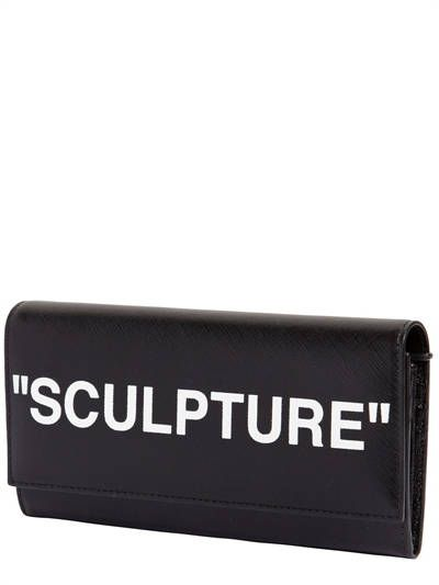 """""""SCULPTURE"""" LEATHER CONTINENTAL WALLET"""