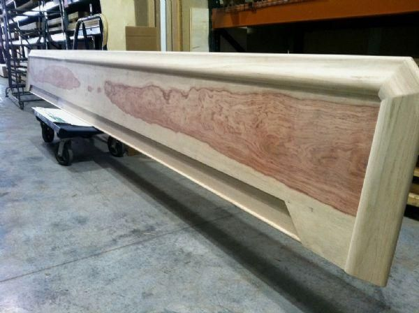 Custom Commercial Bar Top With Chicago Style Bar Rail Molding Custom Bar Top  Featuring Bubinga Main
